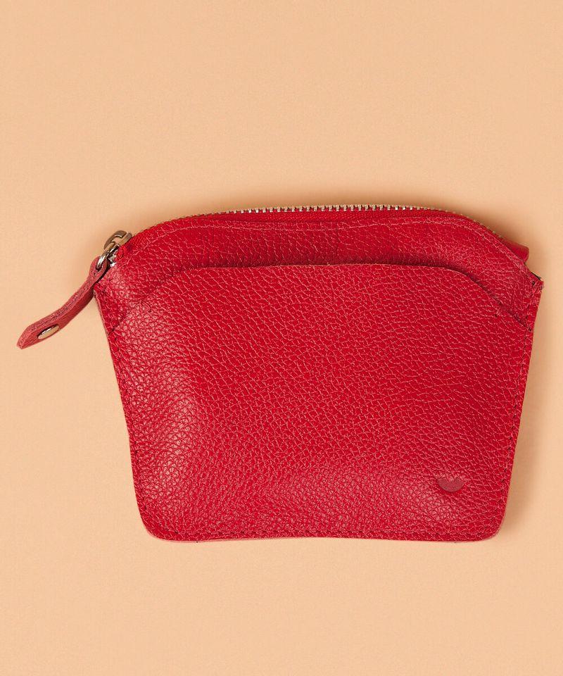 Case Porta Cartao - Vermelho u - vermelho