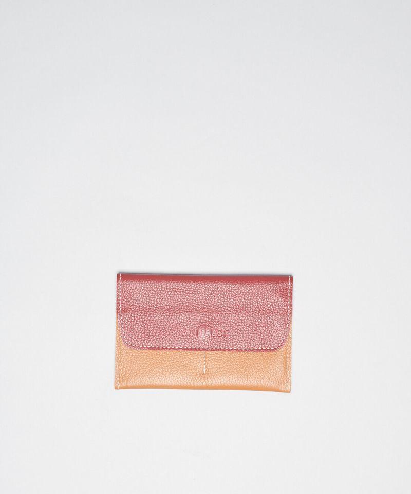 Porta Passaporte - Vermelho - Bicolor u - bicolor